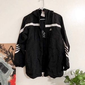 Adidas zip up windbreaker jacket